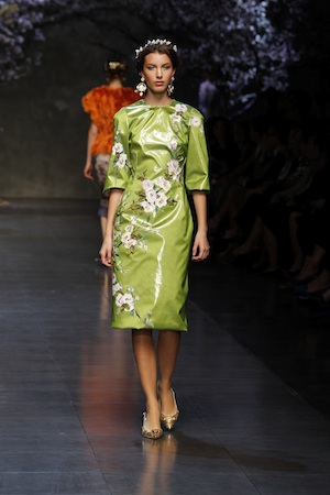 Dolce & Gabbana Sommer 2014, Kirschblüten, 50er Look, Eleganz