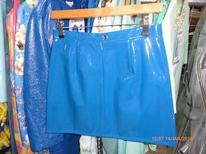 Vinyl blue skirt