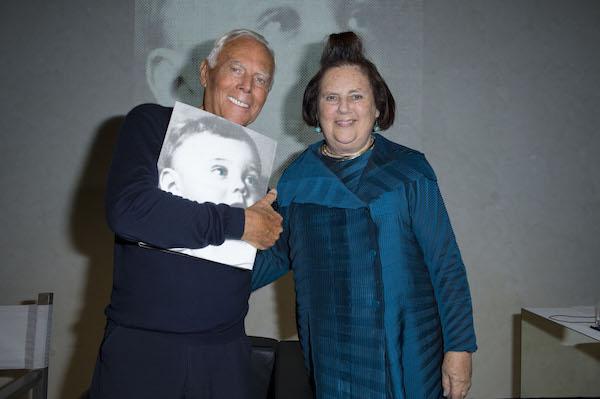 Giorgio Armani and Suzy Menkes web