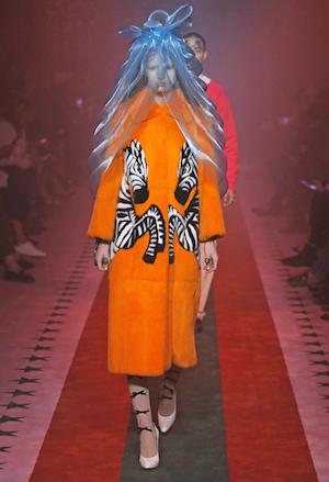 Gucci, Sommer 2017, Pelz, fun, Zebra orange, Mode, Fashion, Style, Gucci, Sommer 2017