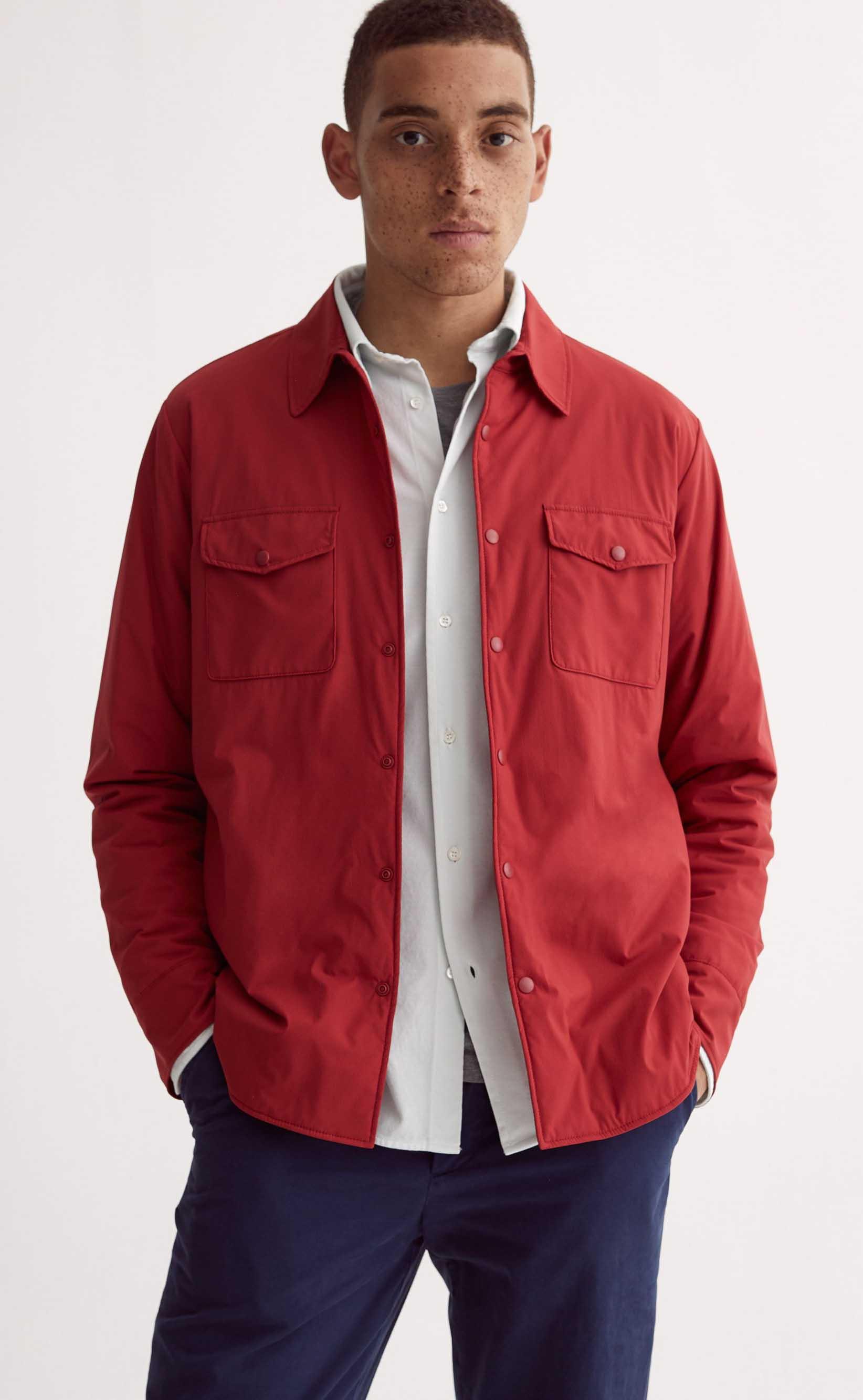 Rotes Jackenhemd von Aspesi